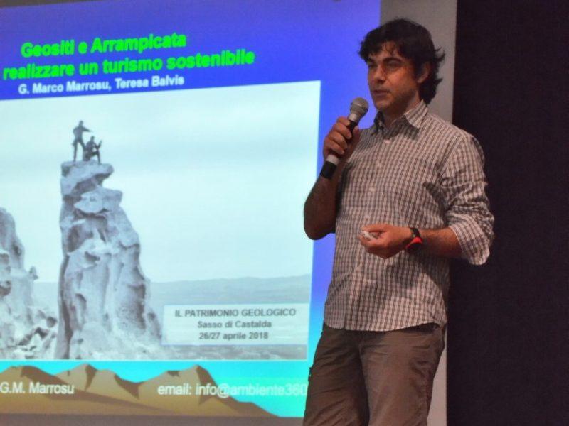 Dr. Marco Marrosu during the presentation, photo Teresa Balvis