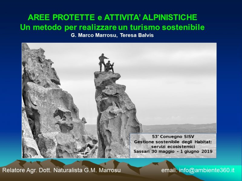 Copertina della presentazione di un nuovo metodo per pianificare le attività alpinistiche su un territorio per lo sviluppo in sicurezza del Turimo Attivo
