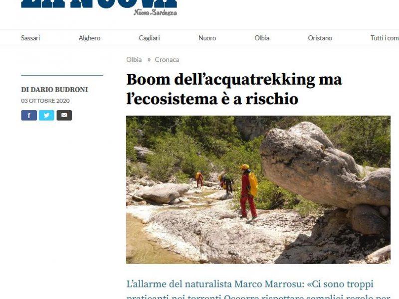Boom dell'acquatrekking ma l'ecosistema è a rischio ( La Nuova Sardegna)